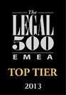 The Legal 500 EMEA Top Tier 2013